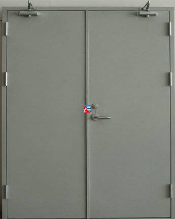 Stainless steel fireproof door