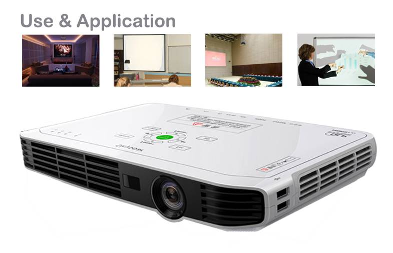 Led dlp 3d Projector Windows OS for business office meeting