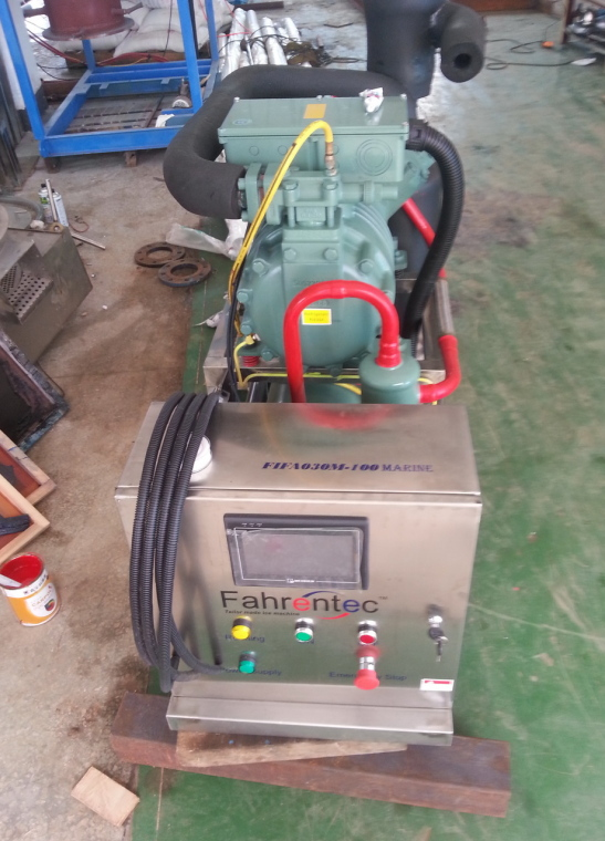 Fahrentec 3ton/day marine/seawater flake ice machine for fishing