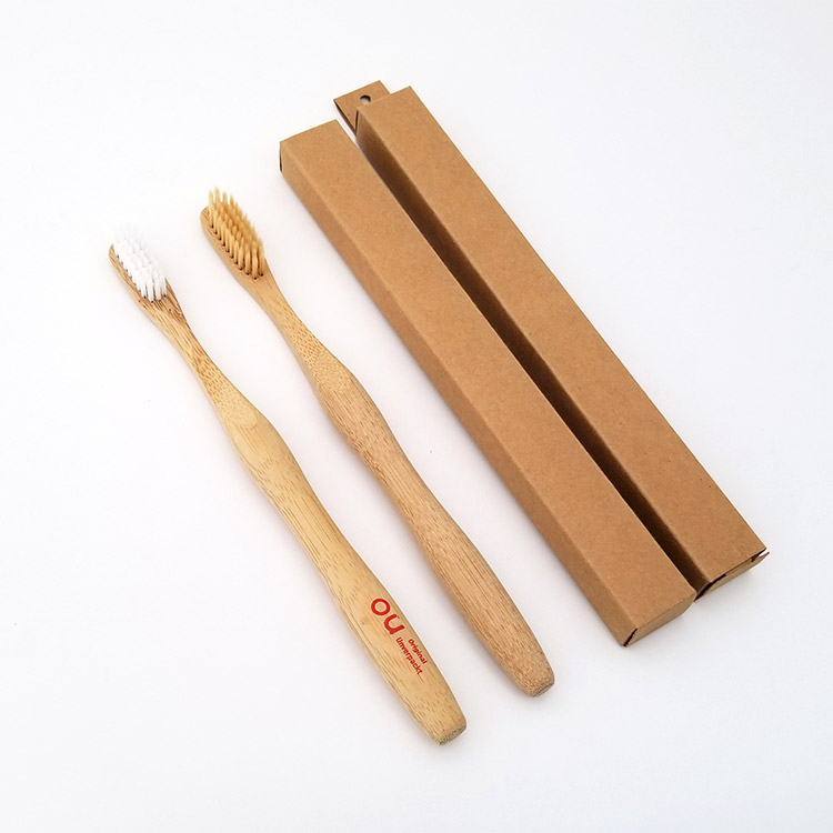 200 pieces with private Logo Full 3D Biodegradable Bamboo Toothbrush
