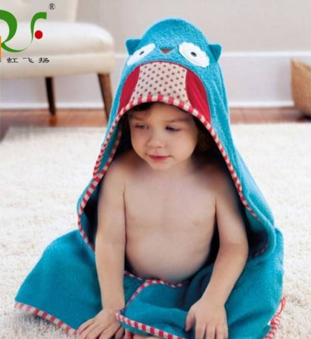 100% cotton fine hooded towel for toddler