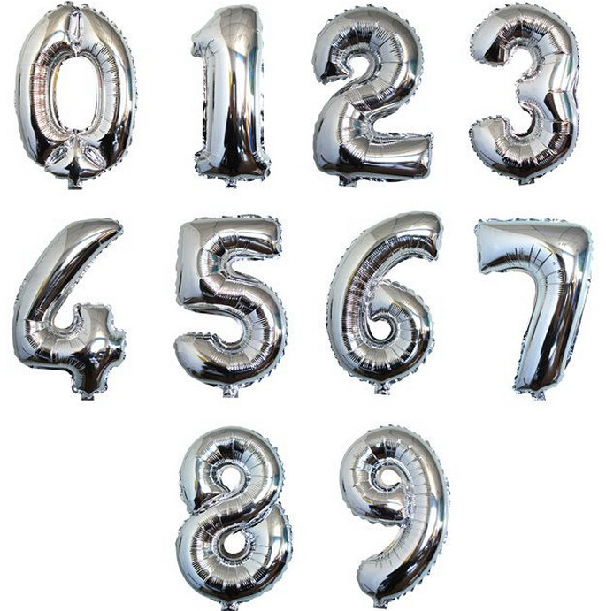 party balloon foil number balloon
