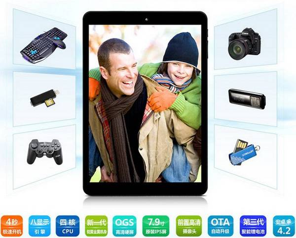 Teclast P85S mini 7.9 Inch IPS Screen Quad Core A31S Tablet PC Android 4.2 8GB OTG MID