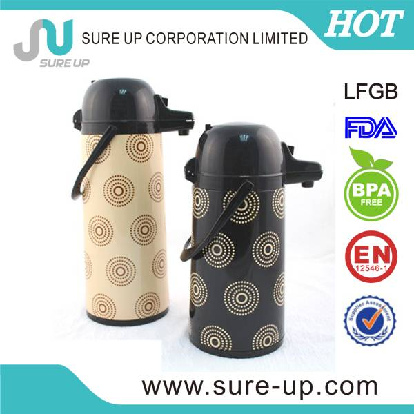 guangzhou fashion double wall glass lined airpots for coffee (AGUD)