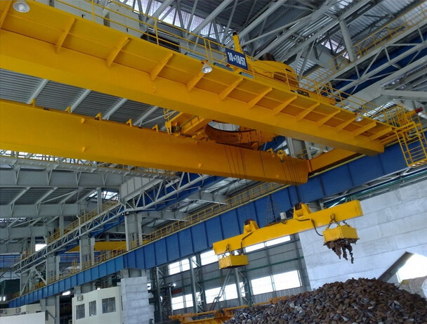 Nucleon QC Electromagnetic Overhead Crane with Carrier-beam