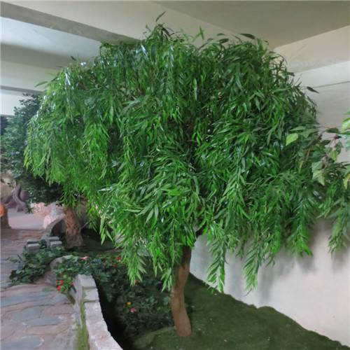 artificial willow tree(with green or white color leaves)