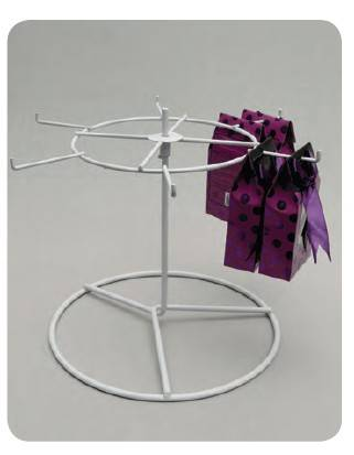 6 hooks metal counter top accessories display