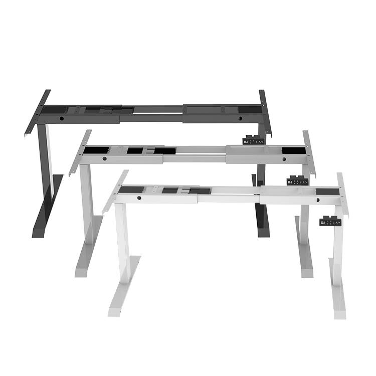 Metal adjustable desk frame