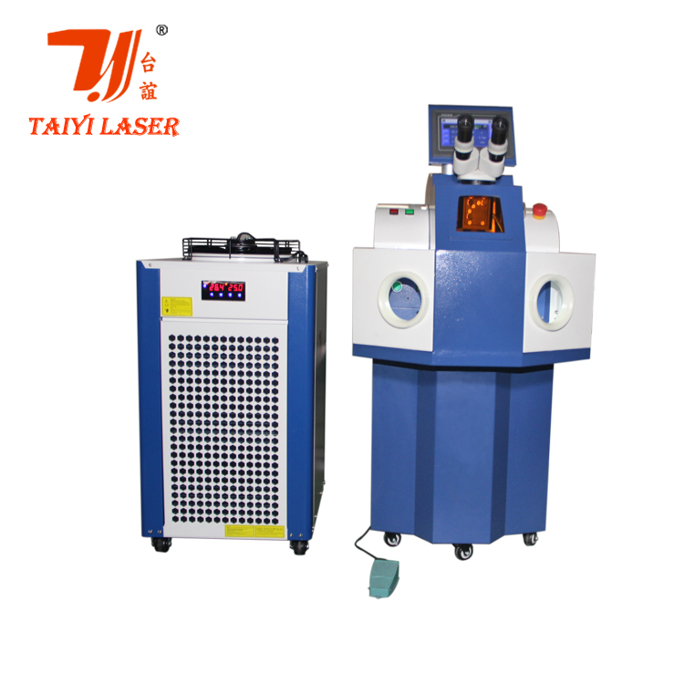 YAG spot laser welder for gold jewelry process