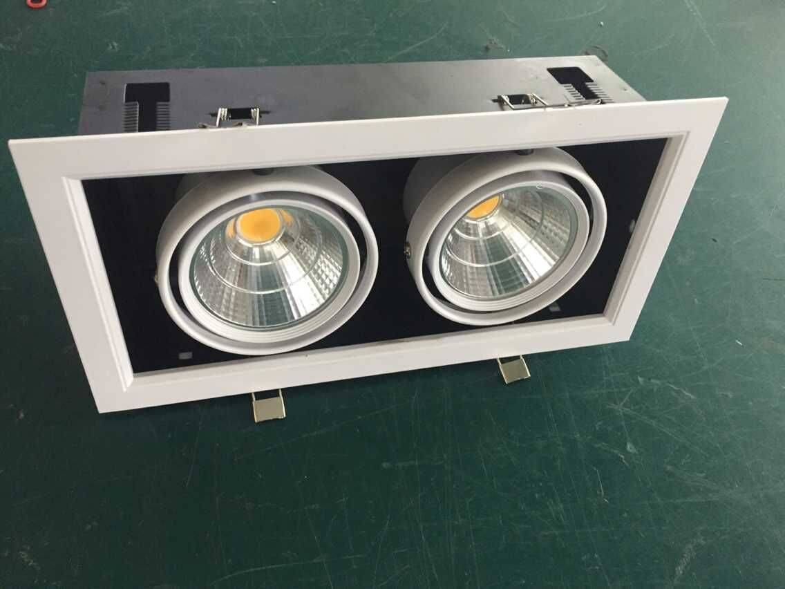 white double head led light grille 10W cob, 10watts cob led grille lamp for hotel/living room