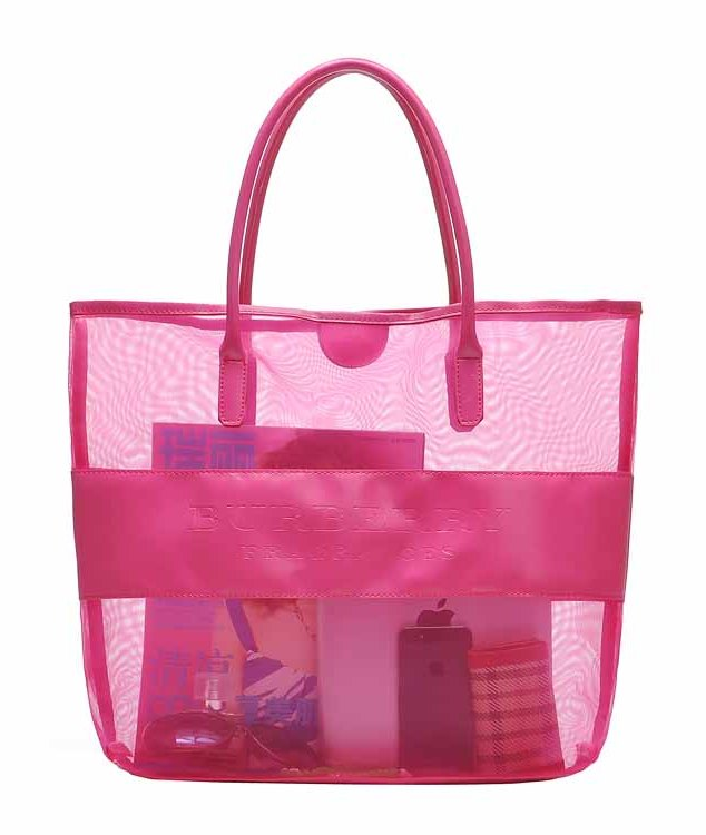 Hot fashion nylon mesh beach bag /hangbag/tote bag