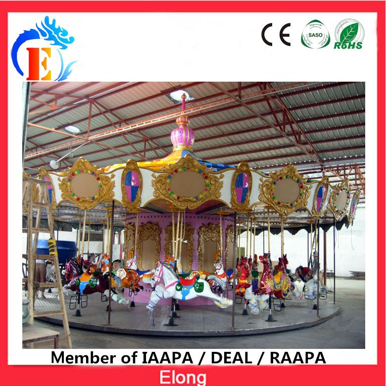 Elong park theme carousel ride grand carousel fairground merry go round