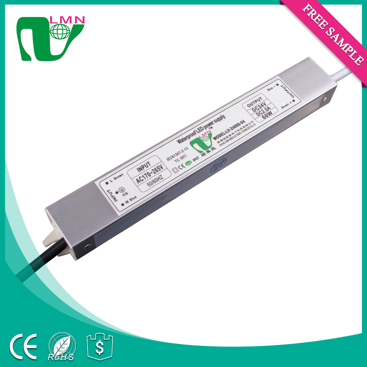 60W waterproof led power supply constant voltage led driver for led panel lightcigarette roaster led