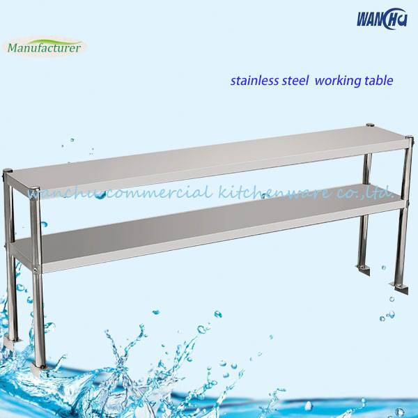 stainless steel worktable overshelf