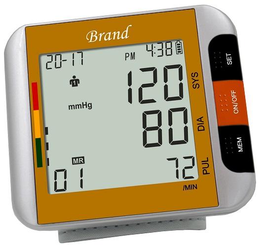 Touch Digital Wrist Blood Pressure Monitor Heart Beat Rate Meter Measure Machine