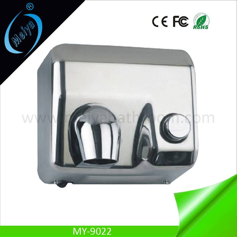automatic sensor stainless steel hand dryer with button