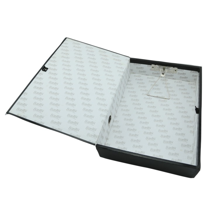 lastest paper case box file with metal clip 10019