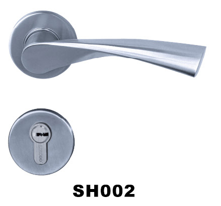 2hrs fire rated stainless steel(SS) casting door handle/lock/hardware high quality
