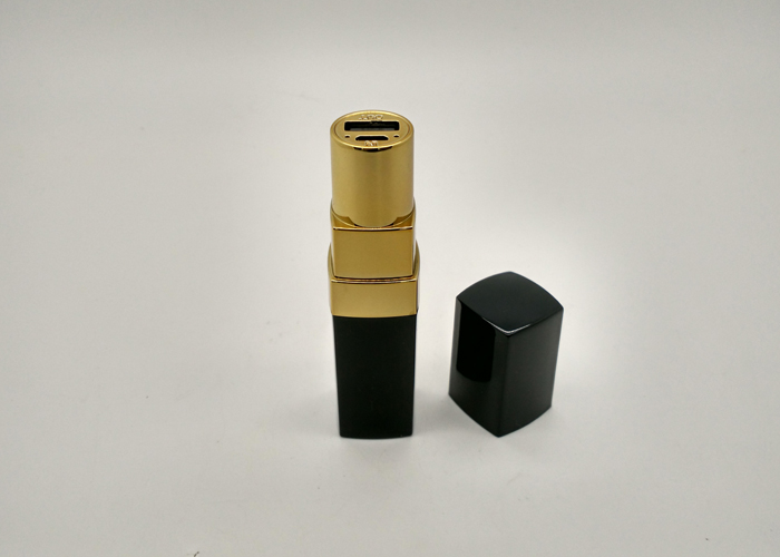 Mini portable charger real capacity 2600mah metal lipstick power bank