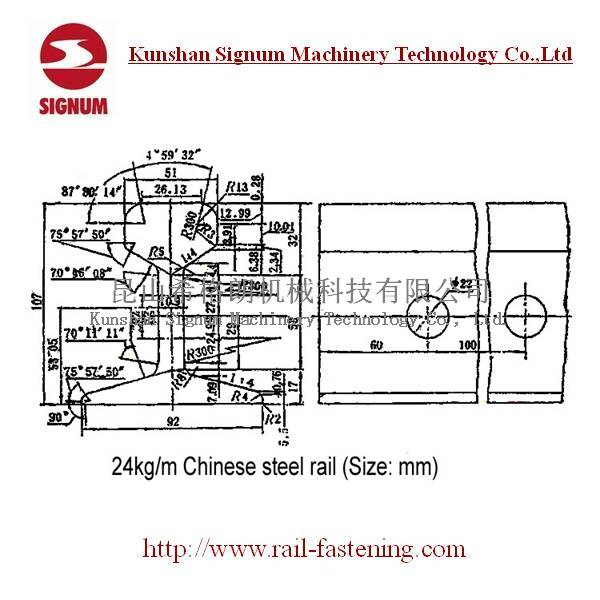 Chinese Standard 24KG Steel Rail