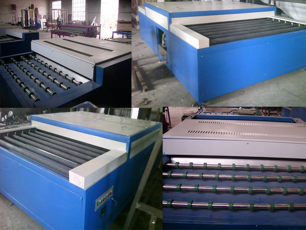 (Double glass equipment) Heating and roller pressing machine for glass