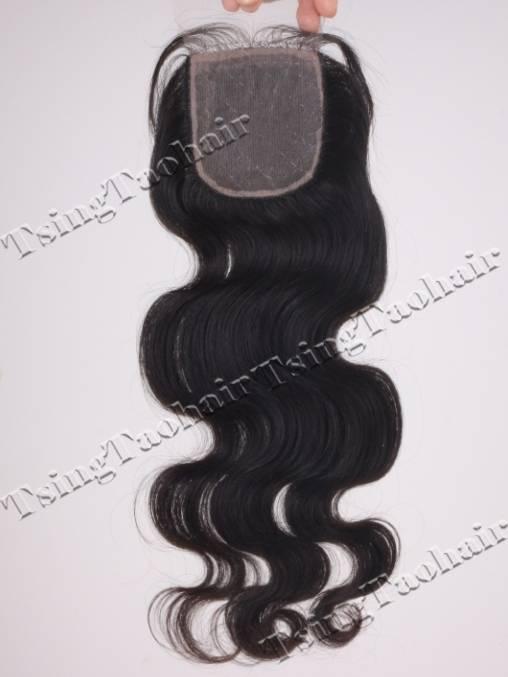 Chinese Virgin Hair Silk Base (Hidden Knots) Closure Can Be Dyed SBC006