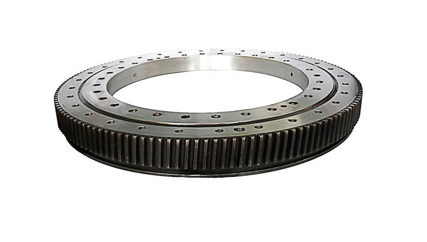 Low noise crane slewing bearing with steel ring manufacture in china