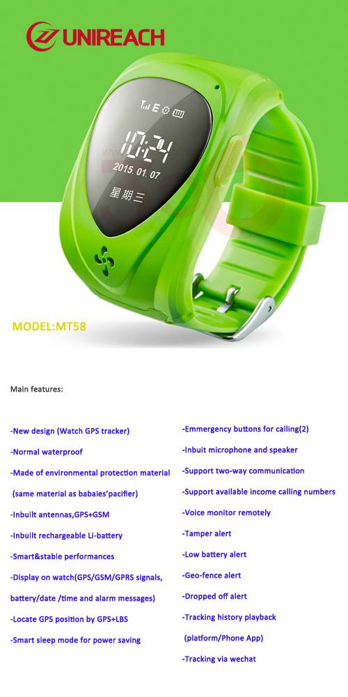 GPS Tracking watch for kids and elders