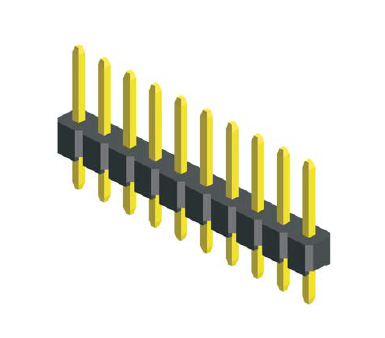 "10PIN 2.54MM .100"" STRAIGHT SINGLE ROW PIN HEADER STRIP,PCB CONNECTOR,"