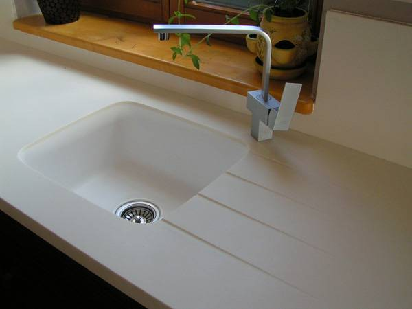 Pure acrylic solid surface countertops similar to Corian