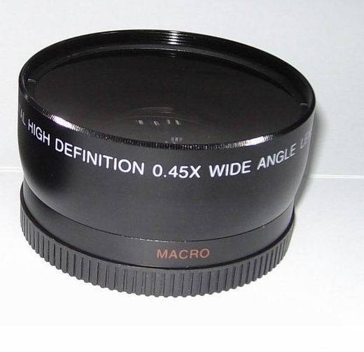 High Definition 58mm 0.45x Camera Lenses With Wide Angle Lenses for Canon 100d