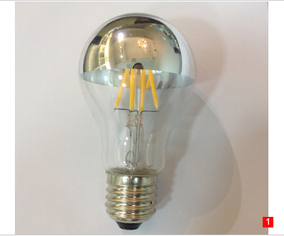 Silver Bowl A19 LED Filament bulbs