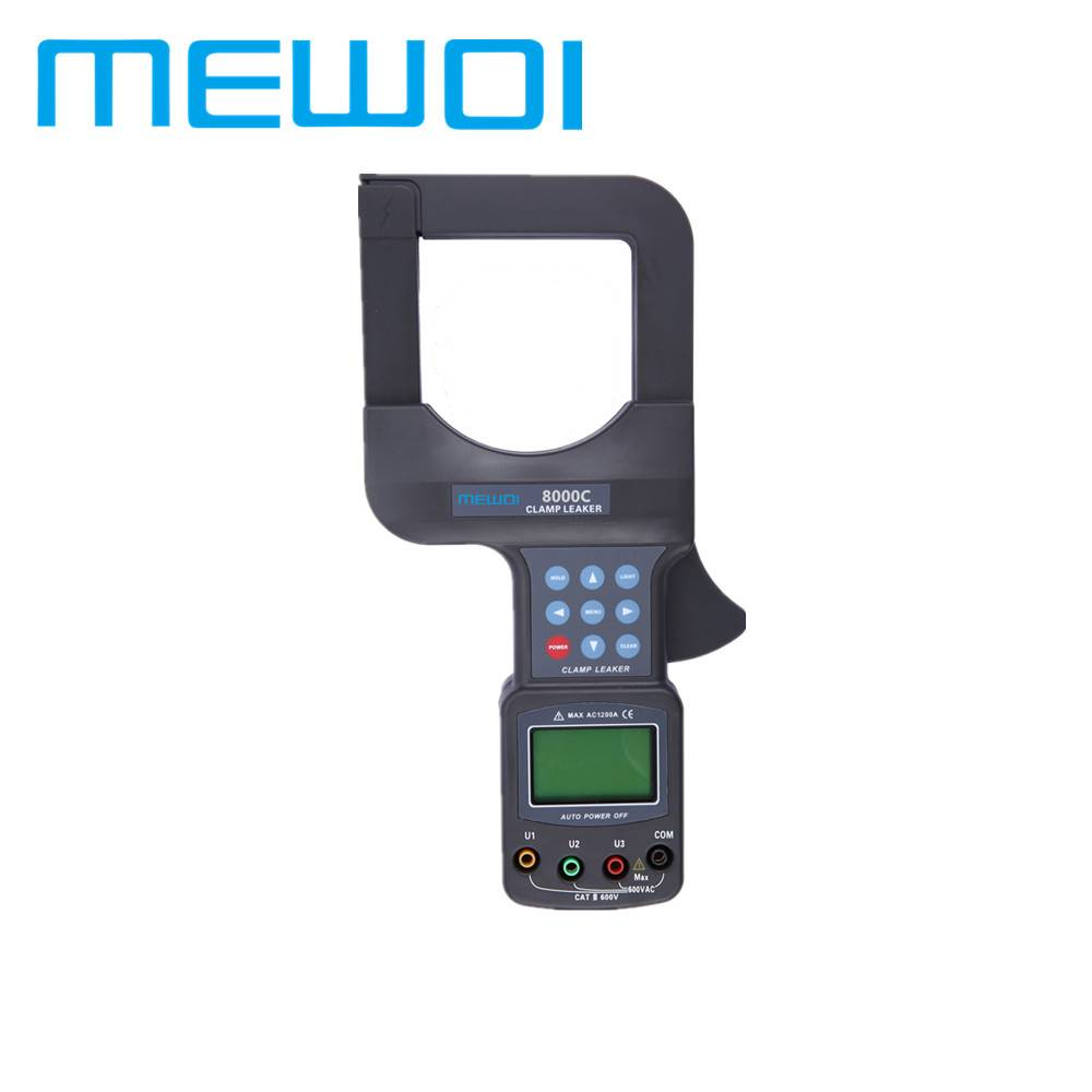 MEWOI8000-AC 0.0mA~1200A, 0.00~600V,High Accuracy Large Caliber Leakage Current Clamp Meter
