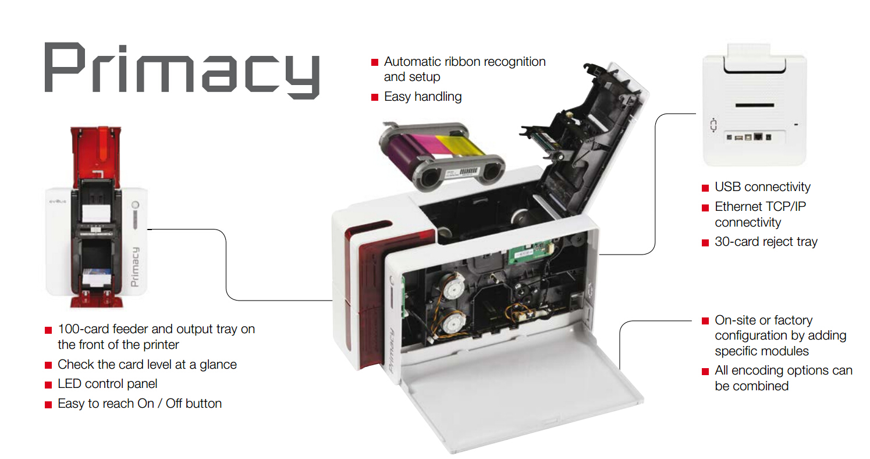 High quality Evolis Primacy single side ID card printer