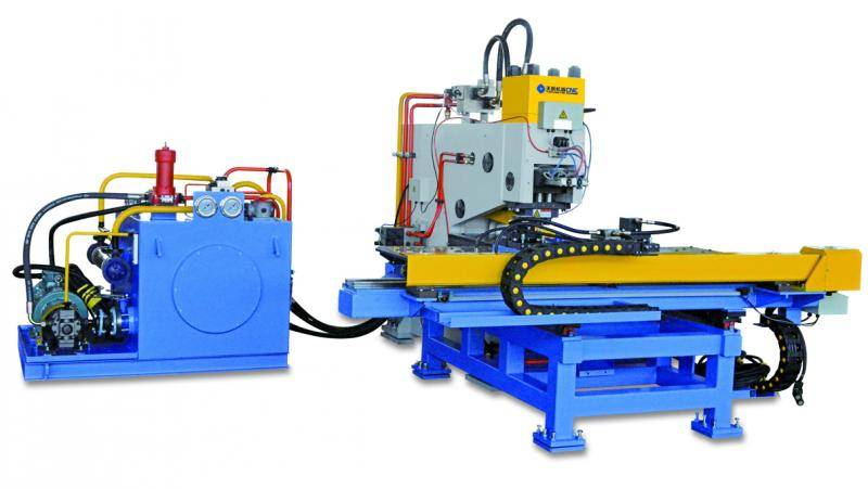 CNC Plate Punching, Drilling and Marking machine
