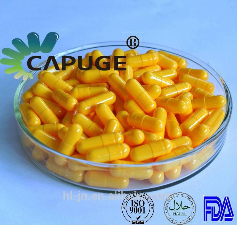 Empty HPMC Capsues Caps Vegetable Shells Vegetarian Islamic Yellow