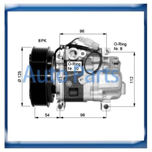 Panasonic Mazda 6 Mazda 5 compressor GDB161450 GAM6-61-K00 GAM661K00 H12A1AQ4HE H12A0CA4JE H12A1AE4D