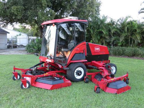 2007 Toro 580 D Groundsmaster 16 ft Rotary Mower WAM 2250 hrs Cab Heat