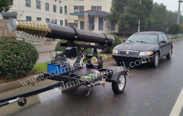 Trailer Mounted Pneumatic Mast - up to 30m
