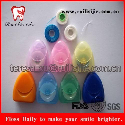 Dental Flosser Wholesale Supply Nylon PTFE Natural Silk Thread Dental Floss with Triangle Dental Flo