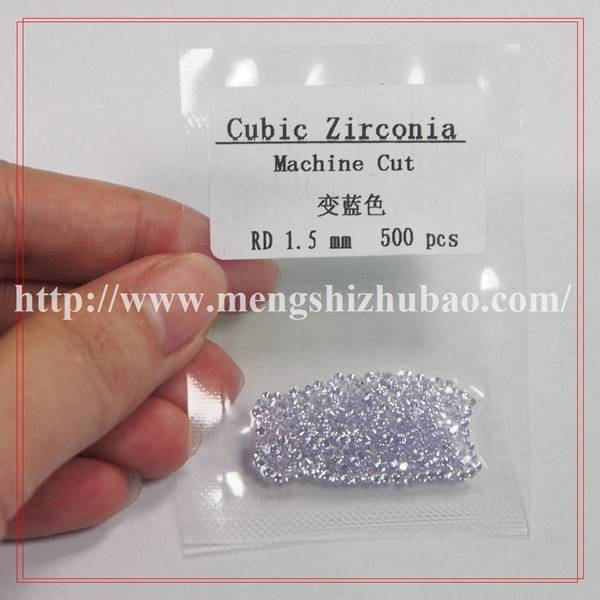 Wholesale Round Shape CZ Light Purple Loose Cubic Zirconia Stones