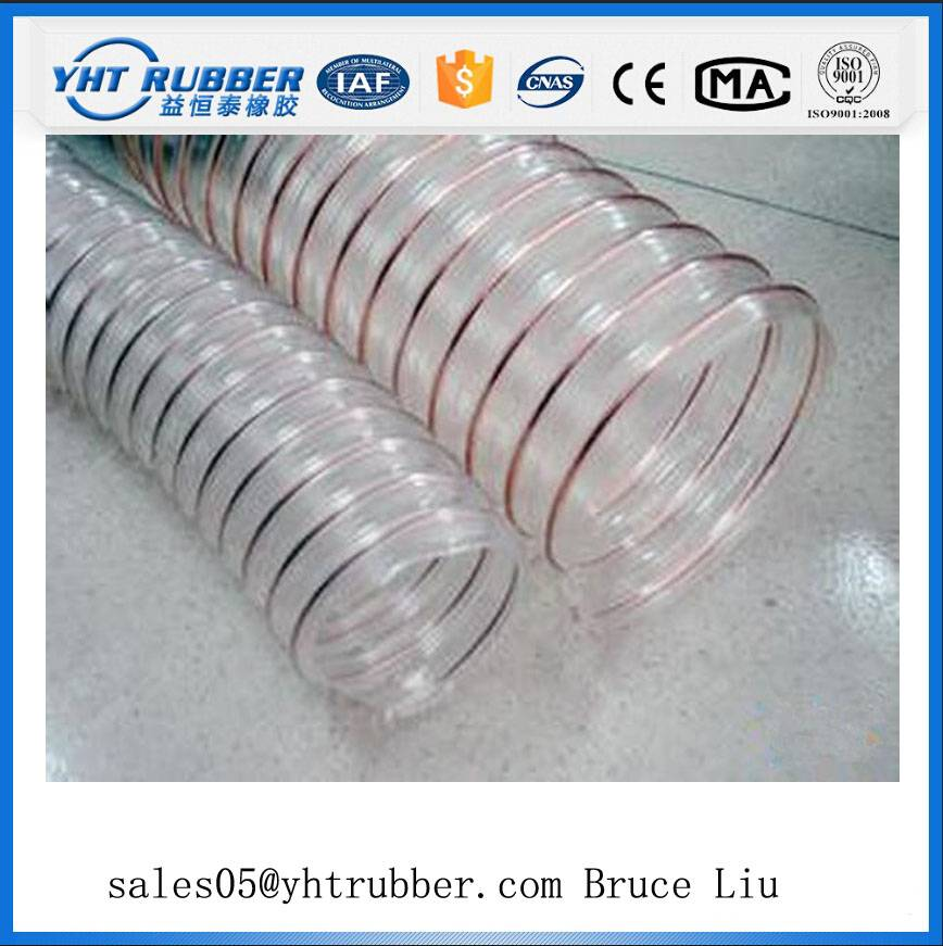 Transparent/Clear Wire Helix /Spiral Dust Collection Hose