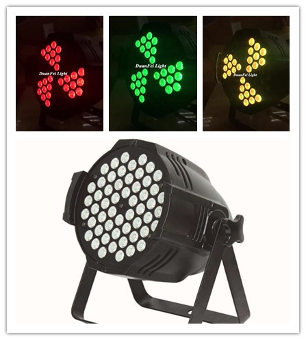 Stage Light LED Par 54x3W RGB 3in1 Fan Shaped Color LED Par Can for Stage wedding Party Disco Club
