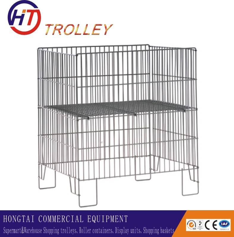 folding large volume metal  supermarket promotion table  for supermarket