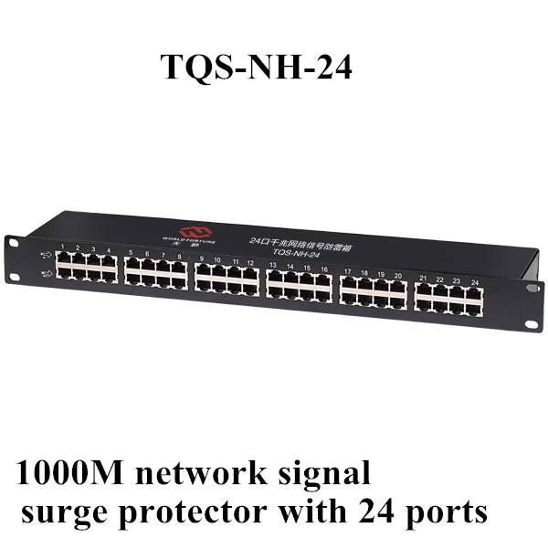 1000M network signal surge protector with 24 ports