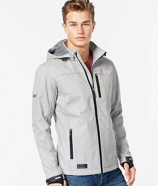 Hooded sports textured Polar fleece Jacket