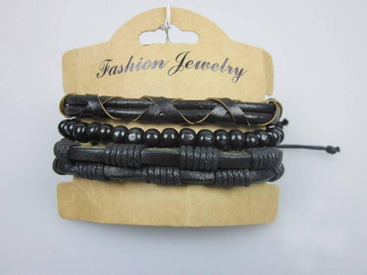 Leather Bangles Bracelets Rope Chain Men Jewelry Handmade Leather Bracelet Designs