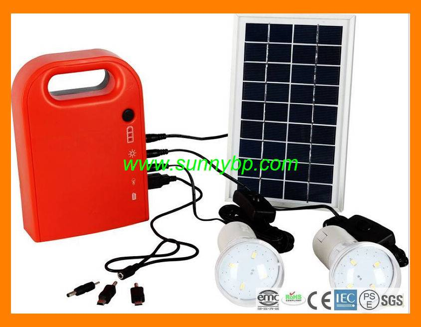 3W Portable Solar System Lighting Kit