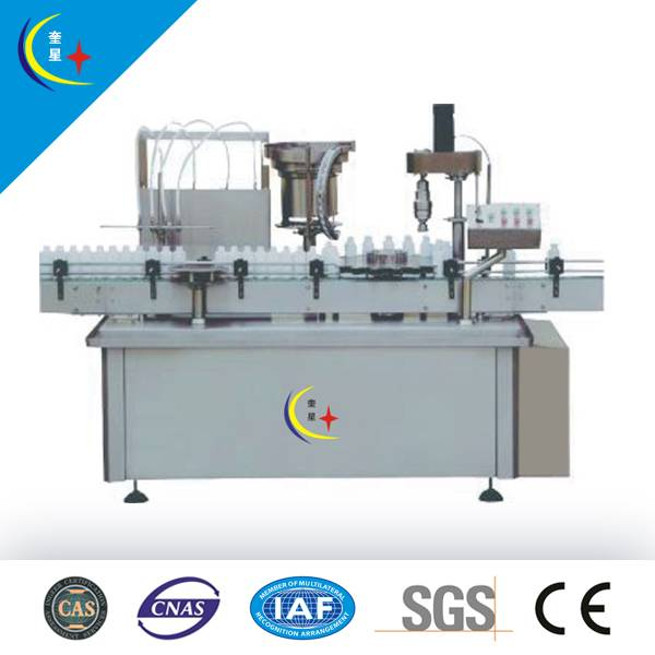 YXT-YG4/1 Four nozzles and one head automatic wine filling and capping machine