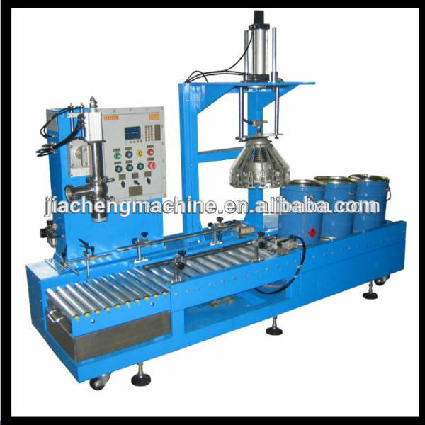Liquid weighing filling paint packaging machine